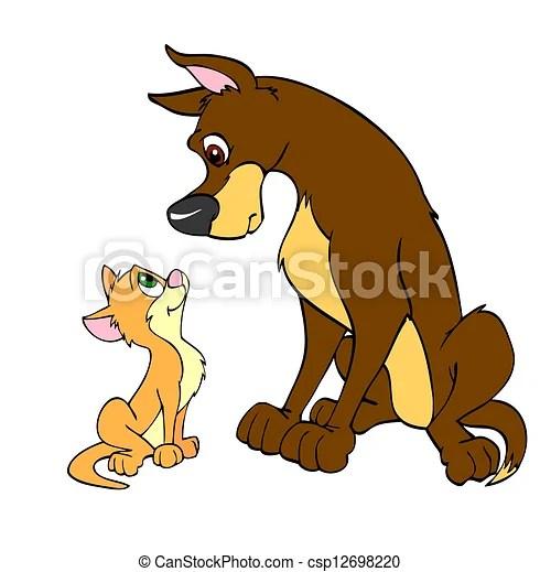 big dog and little