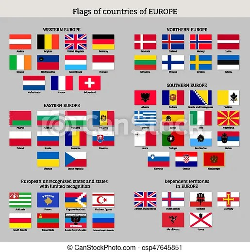 big set of flags