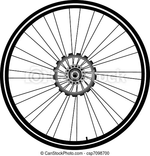 Bike wheel isolated on white. Bike wheel with tire and