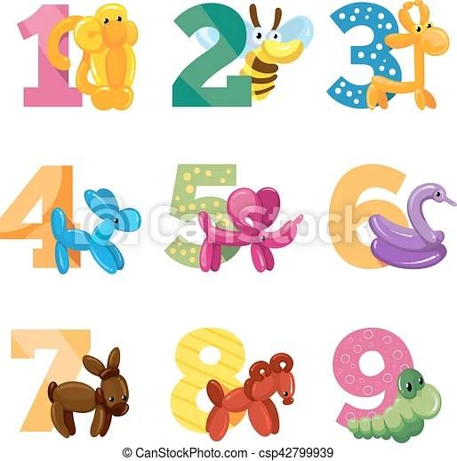 birthday anniversary cartoon numbers