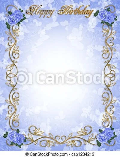 https www canstockphoto com birthday invitation blue roses 1234213 html