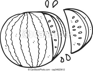 watermelon clipart cartoon clip vector drawing freehand drawn line 123clipartpng