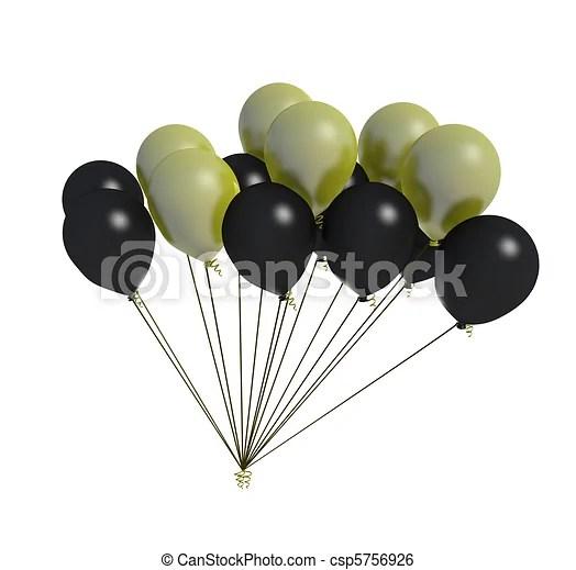 black and yellow balloon fan. fan