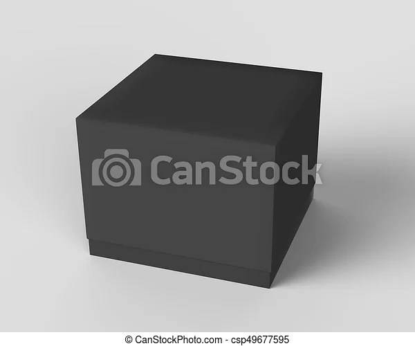 Download Black box cube mockup, blank box template isolated on grey ...