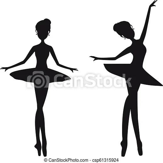 black silhouette ballerina ballet