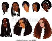 black women faces . vector illustration