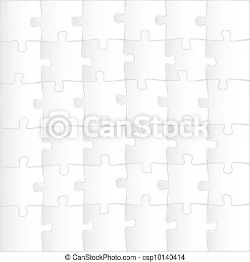 Blank puzzle template background - illustration.