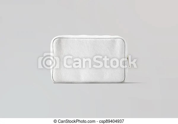 Makeup bags occupy a very specific niche and can't be replaced by anything else. Blank White Canvas Cosmetic Bag Mockup Gray Background 3d Rendering Empty Cosmetician With Makeup Stuff Mock Up Front Canstock