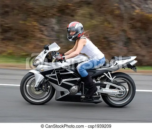Blonde Biker Girl Csp1939209