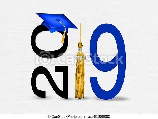 blue 2019 graduation cap