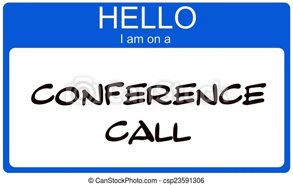 Blue hello i am on a conference call name tag sticker making a great concept.