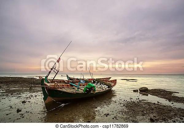 Boat in vietnam. Fishing boats in kep,cambodia.
