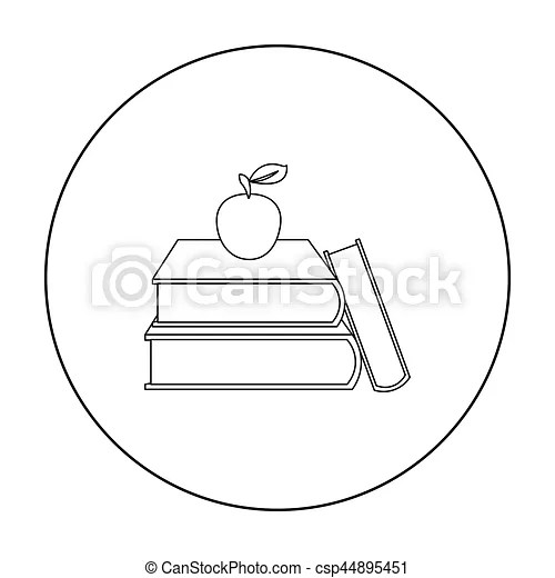 Books icon outline. single education icon from the big