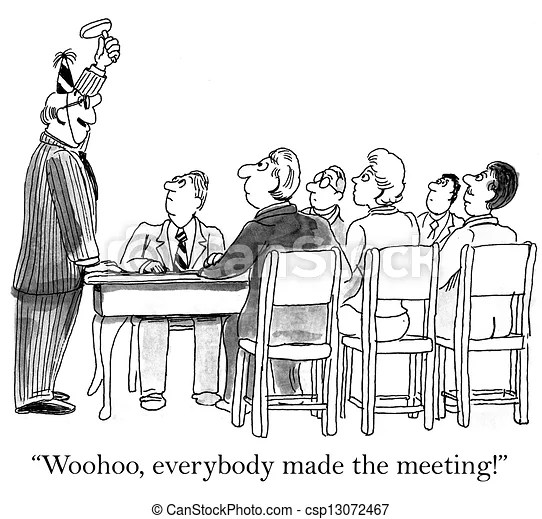 Boss is excited by perfect meeting attendance.