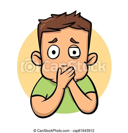 Boy about to throw up. nausea flat design icon. flat vector illustration. isolated on white background. Boy about to throw up. nausea flat design ...
