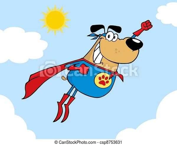 brown super hero dog