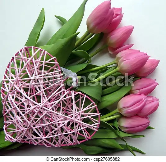 bunch of tulips with