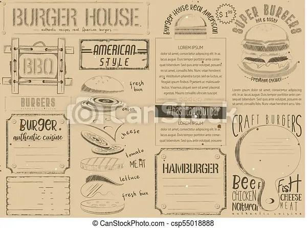 burger placemat on craft