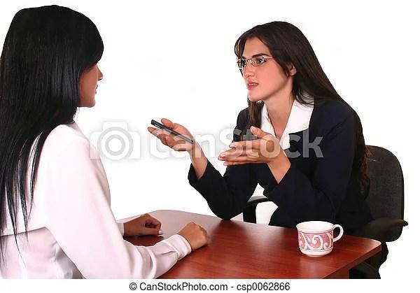 Business negotiation. Businesswoman attending a client, salind services.