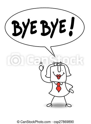 Karen says bye bye.