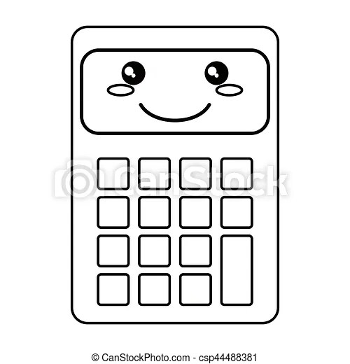 Calculator mathematics accounting icon thin line vector