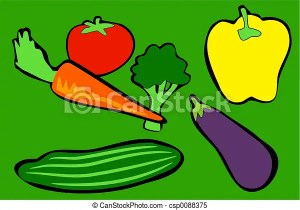 vegetables drawing simple drawings illustration illustrations cucumber clipart vegetable brocolli pepper plants clip royalty canstockphoto graphic gograph line graphics