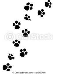 Stock Illustration of Paw prints - t shirt designs by me ...