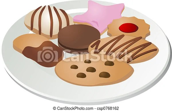 clip art of assorted cookies