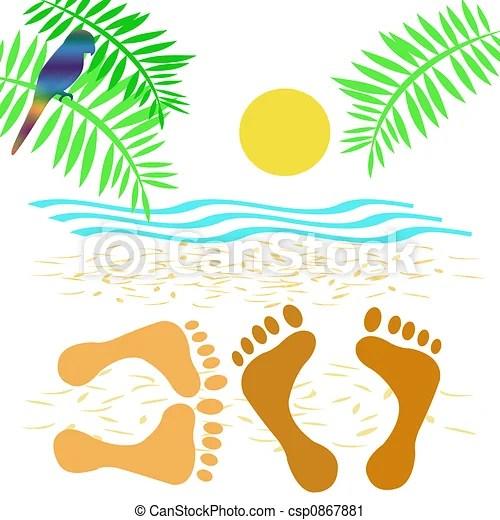 clipart of beach romance - lovers