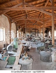 attic clutter lots things factory useless rummages clip shutterstock canstockphoto