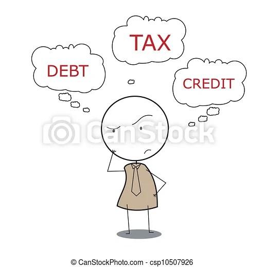 Vector Illustration of businessman tax csp10507926