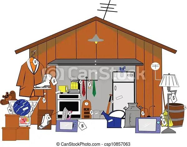 clip art vector of garage