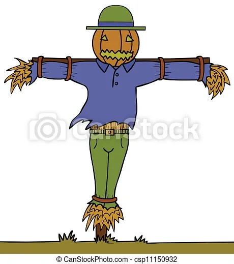 vectors of scary scarecrow pumpkin
