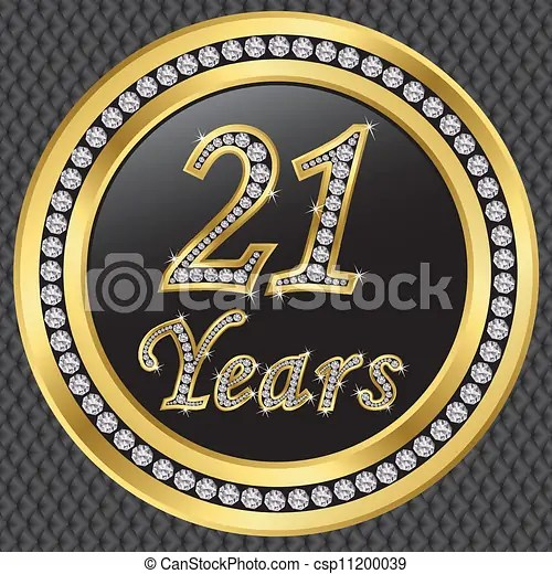 vectors of 21 years anniversary