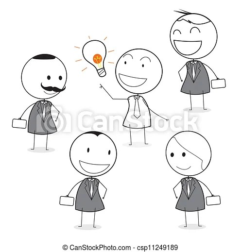 Vector of good idea employee around boss csp11249189