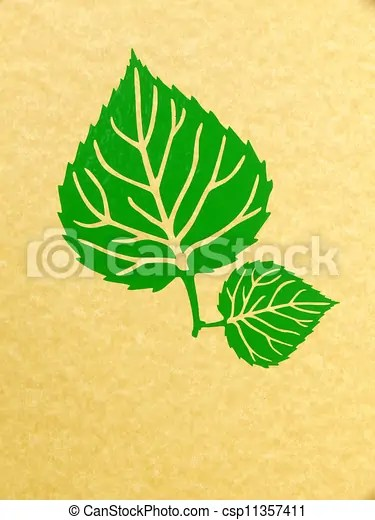 clipart of linden leaf - graphic