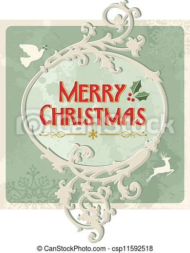 vector clip art of merry christmas