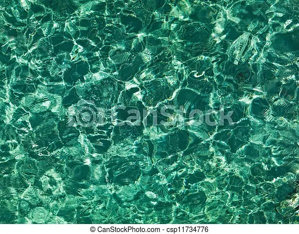 Picture of emerald texture  Nice emerald water ripples in