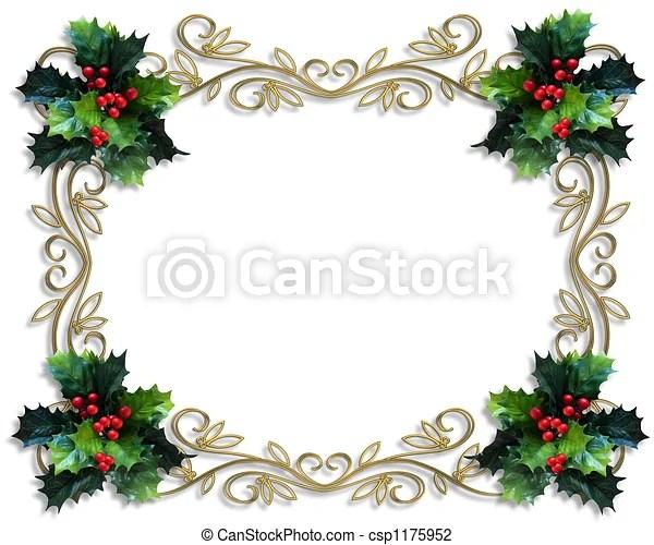 clip art of christmas holly border