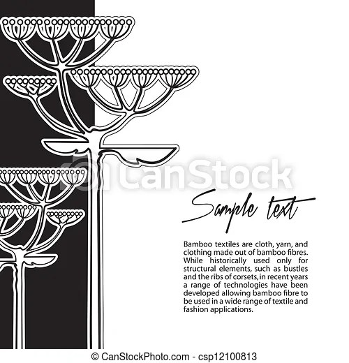 Vector Clip Art of Vector background from fennel flower