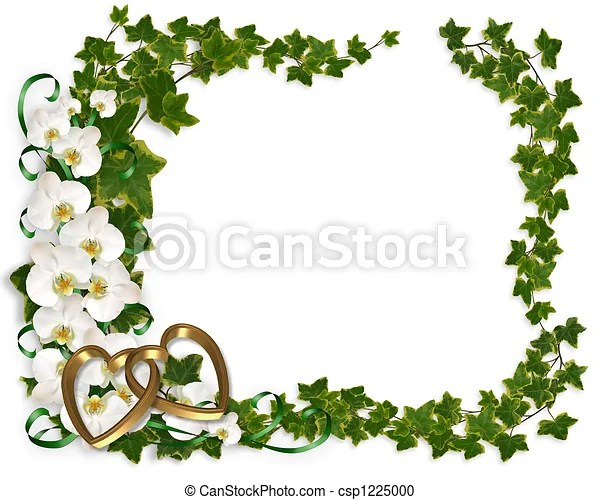 Stock Illustration Of Orchid And Ivy Border Frame Illustration And Image Csp1225000