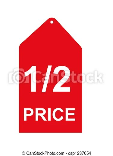 Drawing of Retail Sales Tag - half price sales tag csp1237654 - Search Clip Art Illustrations and EPS Vector Graphics Images