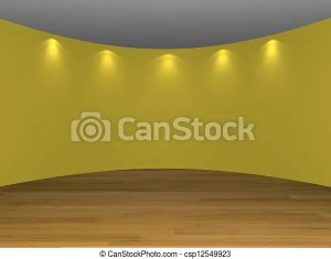 yellow interior empty clipart floors decorated wooden