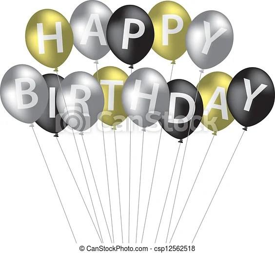 vector clip art of happy birthday