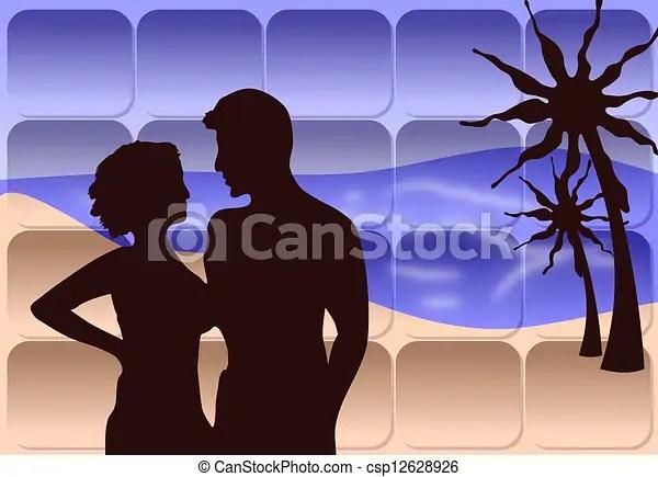 clip art of romantic couple