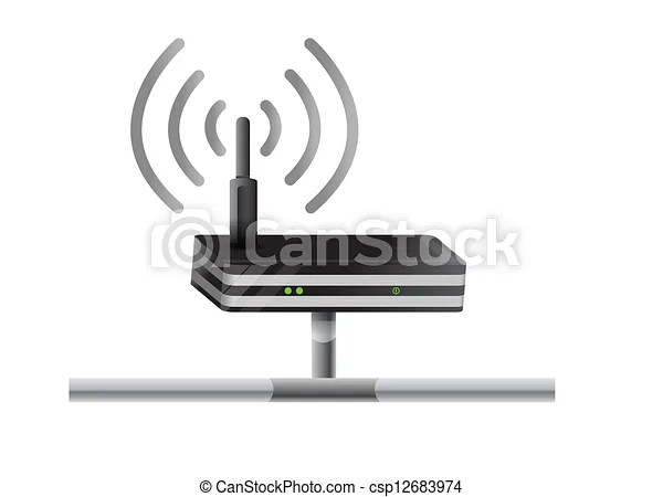 Vectors Illustration of Wireless Router network