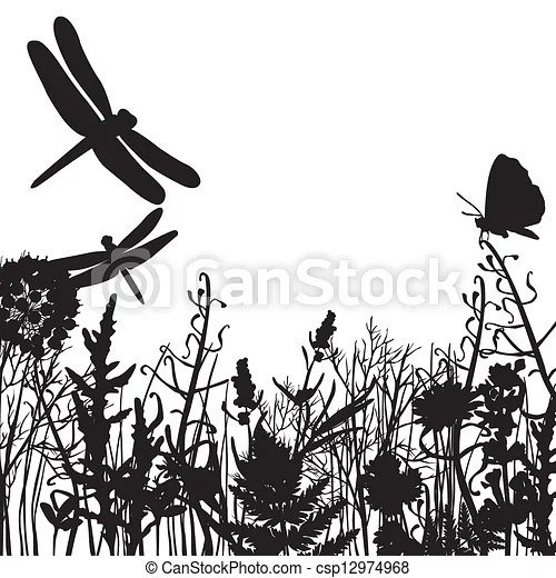 clip art vector of black and white