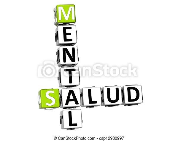 Stock Illustration of 3D Mental Health (Mental Salud