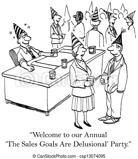 Stock Illustration of The annual sales goals are