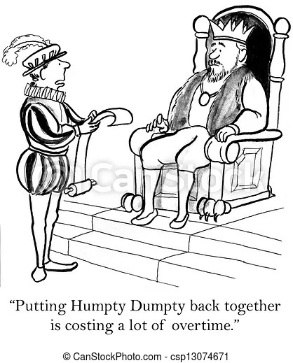 Stock Illustrations of The humpty dumpty project is